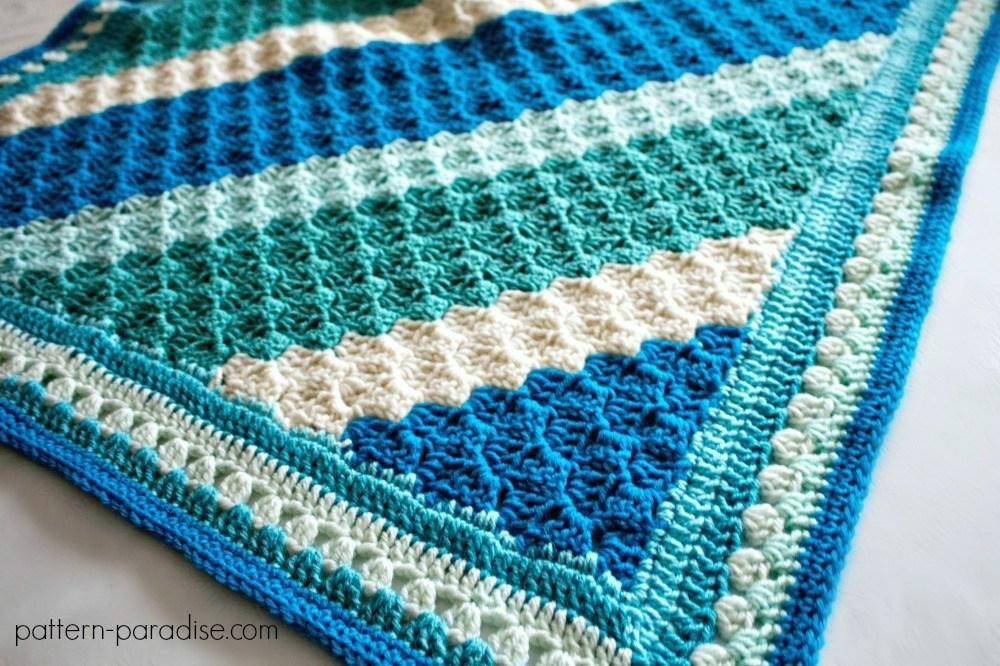 L Crochet Casserole C2C Blanket 7644